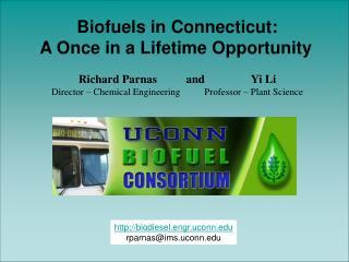 biodiesel.engr.uconn rparnas@ims.uconn