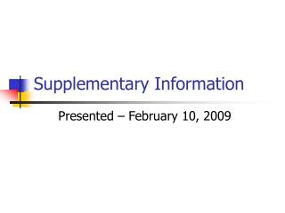 Supplementary Information