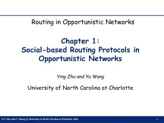 Chapter 1:  Social-based Routing Protocols in Opportunistic Networks