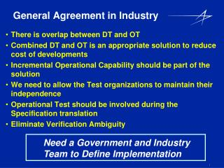 General Agreement in Industry