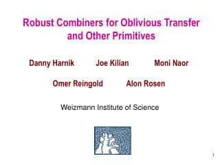 Robust Combiners for Oblivious Transfer and Other Primitives