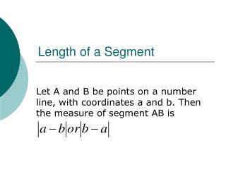Length of a Segment