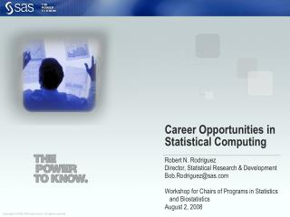 Career Opportunities in  Statistical Computing