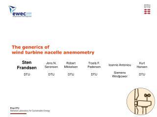 The generics of wind turbine nacelle anemometry
