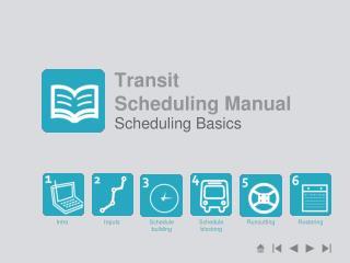 Transit  Scheduling Manual