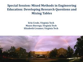 Erin  Crede, Virginia Tech Maura  Borrego, Virginia Tech Elizabeth  Creamer, Virginia Tech
