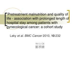 Laky  et al. BMC Cancer  2010,  10 :232