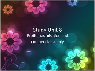 Study Unit 8