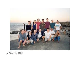 Uri Alon's lab 10/02