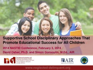 Supportive School Disciplinary Approaches That Promote Educational Success for All Children