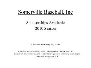 Somerville Baseball, Inc