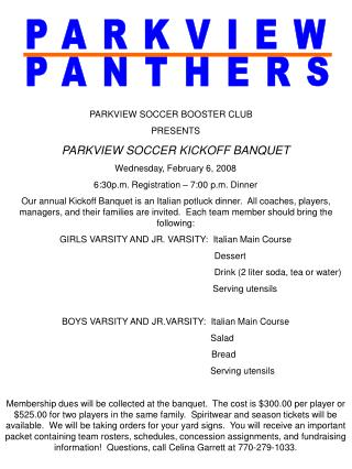 PARKVIEW PANTHERS