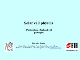 Photovoltaic effect  and cell principles