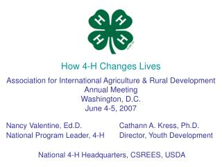 How 4-H Changes Lives