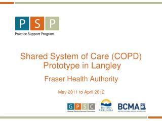 Shared System of Care (COPD)  Prototype in Langley