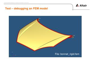 Test – debugging an FEM  model