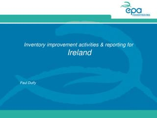 Inventory improvement activities & reporting for Ireland