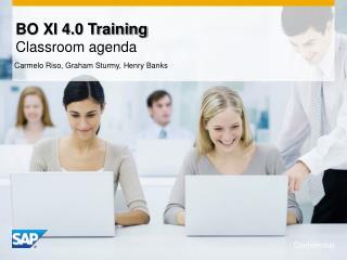 BO XI 4.0 Training Classroom agenda