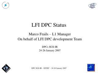 LFI DPC Status