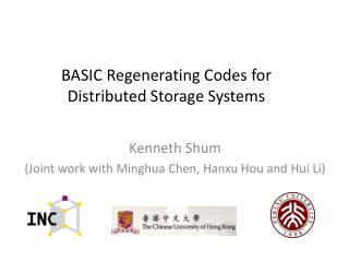 BASIC Regenerating Codes for  Distributed Storage System s
