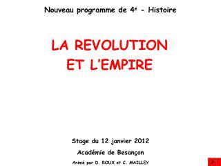 Nouveau programme de 4e - Histoire