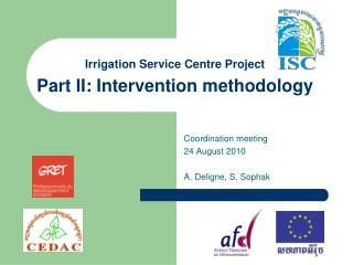 Irrigation Service Centre Project Part II: Intervention methodology