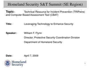 Homeland Security ST Summit SE Region