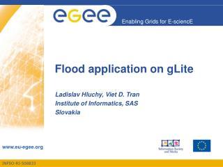 Flood application on gLite