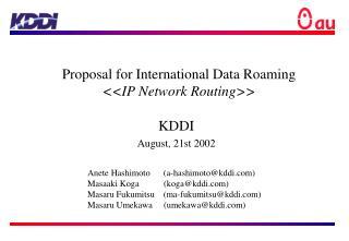 KDDI August, 21st 2002