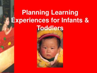 Planning Learning Experiences for Infants  Toddlers