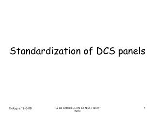 Standardization of DCS panels
