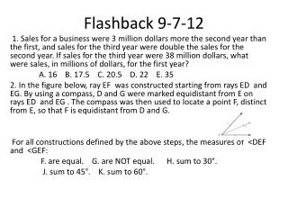 Flashback  9-7-12