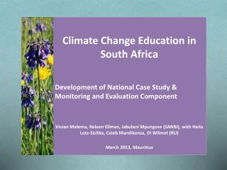 Climate Change Education in South Africa