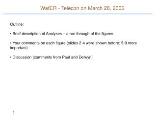 WatER - Telecon on March 28, 2006