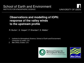 Observations and modelling of IOP6:  response of the valley winds to the upstream profile