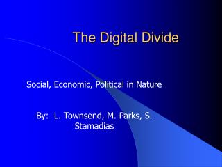 The Digital Divide Social