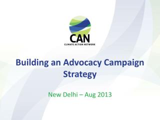 Building an Advocacy Campaign Strategy