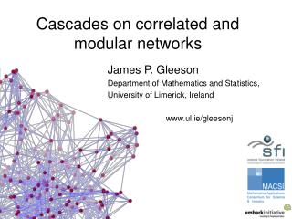 Cascades on correlated and modular networks
