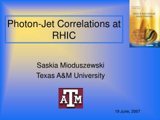 Photon-Jet Correlations at RHIC