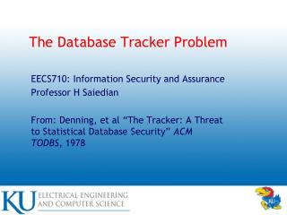 The Database Tracker Problem