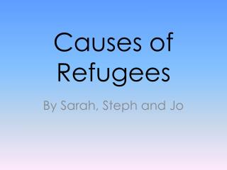 Causes of Refugees