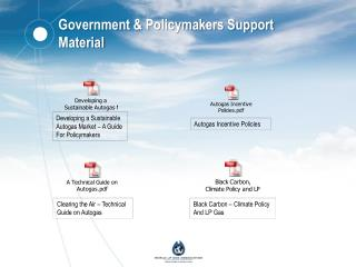 Government & Policymakers Support Material