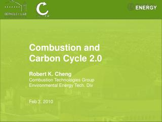 Combustion and  Carbon Cycle 2.0 Robert K. Cheng Combustion Technologies Group