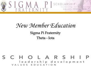 New Member Education