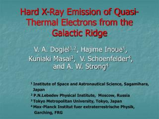 Hard X-Ray Emission of Quasi-Thermal Electrons from the Galactic Ridge