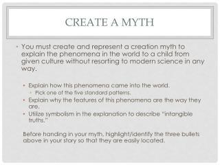 Create a Myth