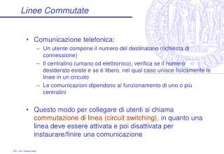 Linee Commutate