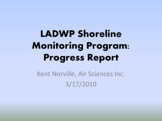 LADWP Shoreline Monitoring Program: Progress Report