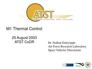 M1 Thermal Control