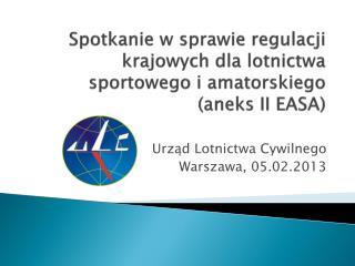 Spotkanie w sprawie regulacji krajowych dla lotnictwa sportowego i amatorskiego (aneks II EASA)